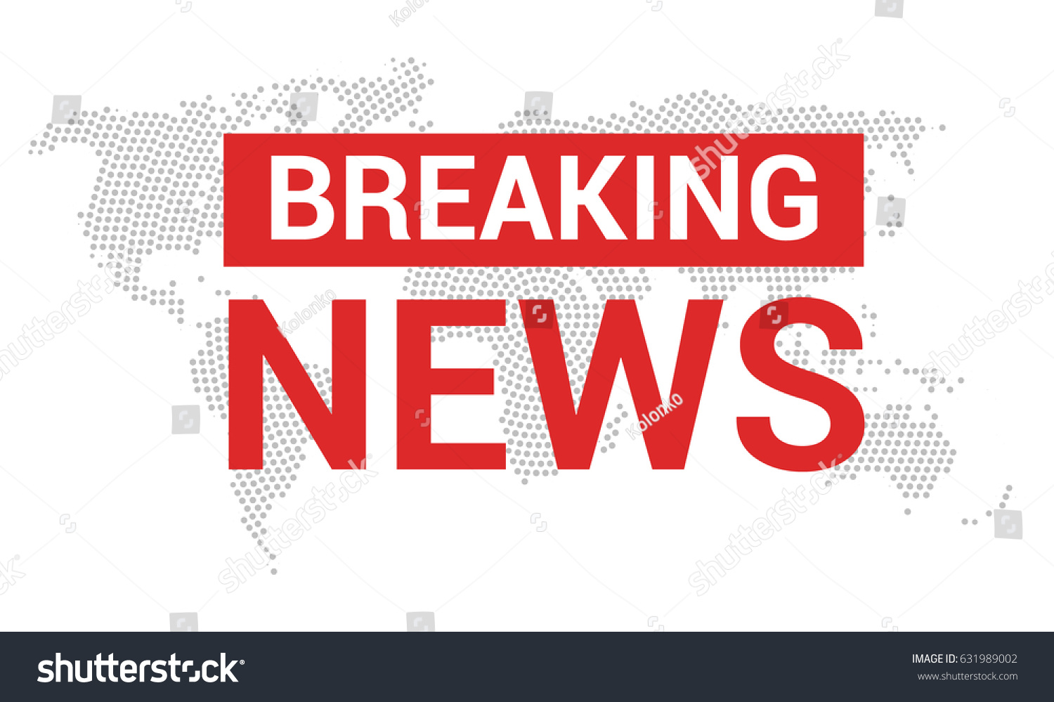image displaying the words breaking news