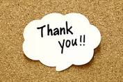 image with the word thank you in a speech bubble